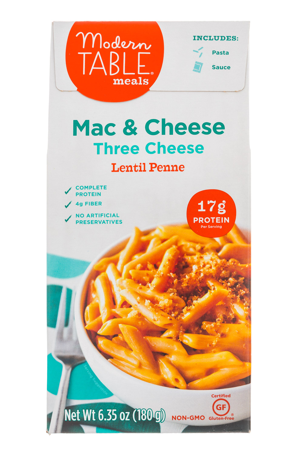 Three Cheese Lentil Penne