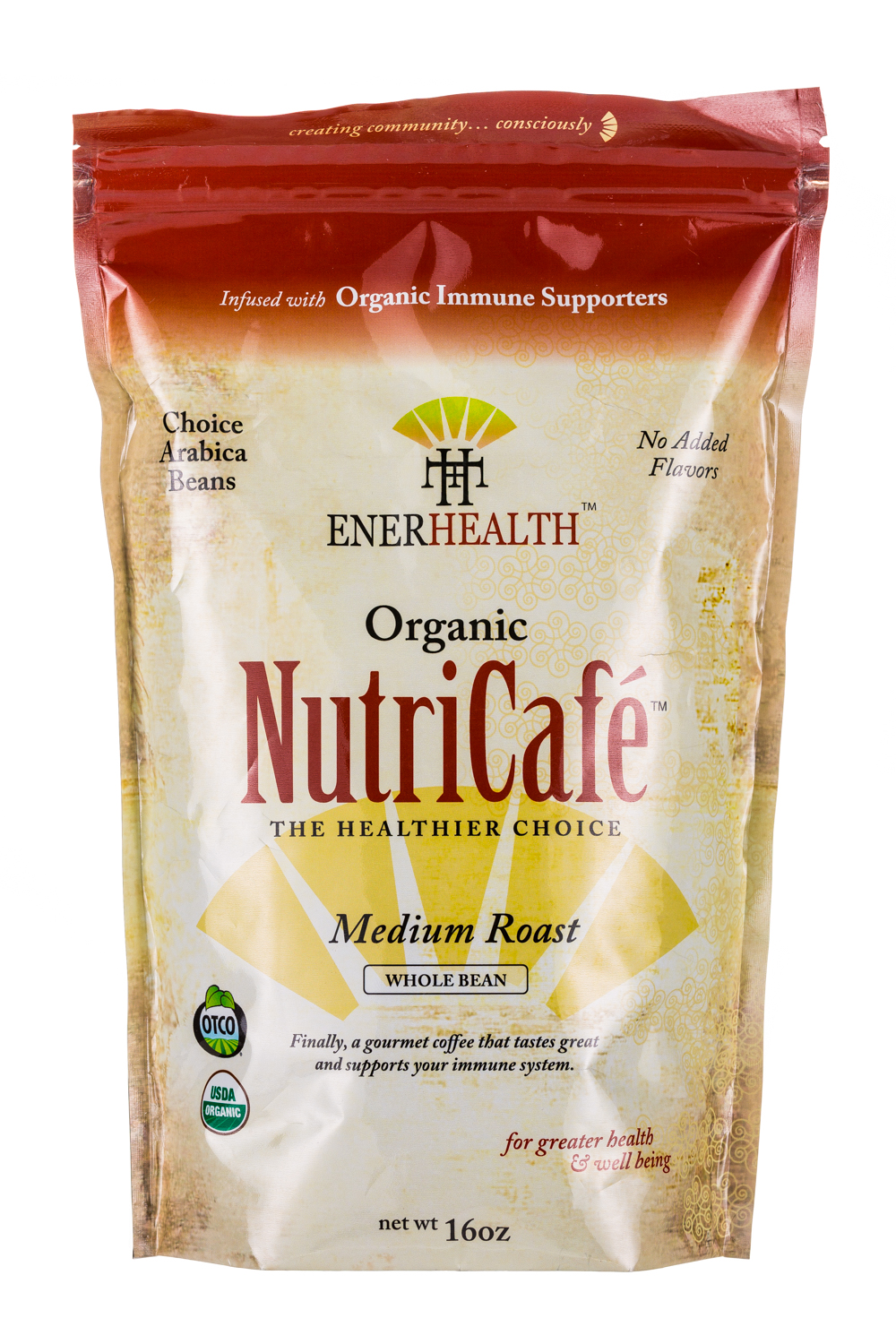 Organic NutriCafe-Medium Roast- Infused with Organic Immune Supporters