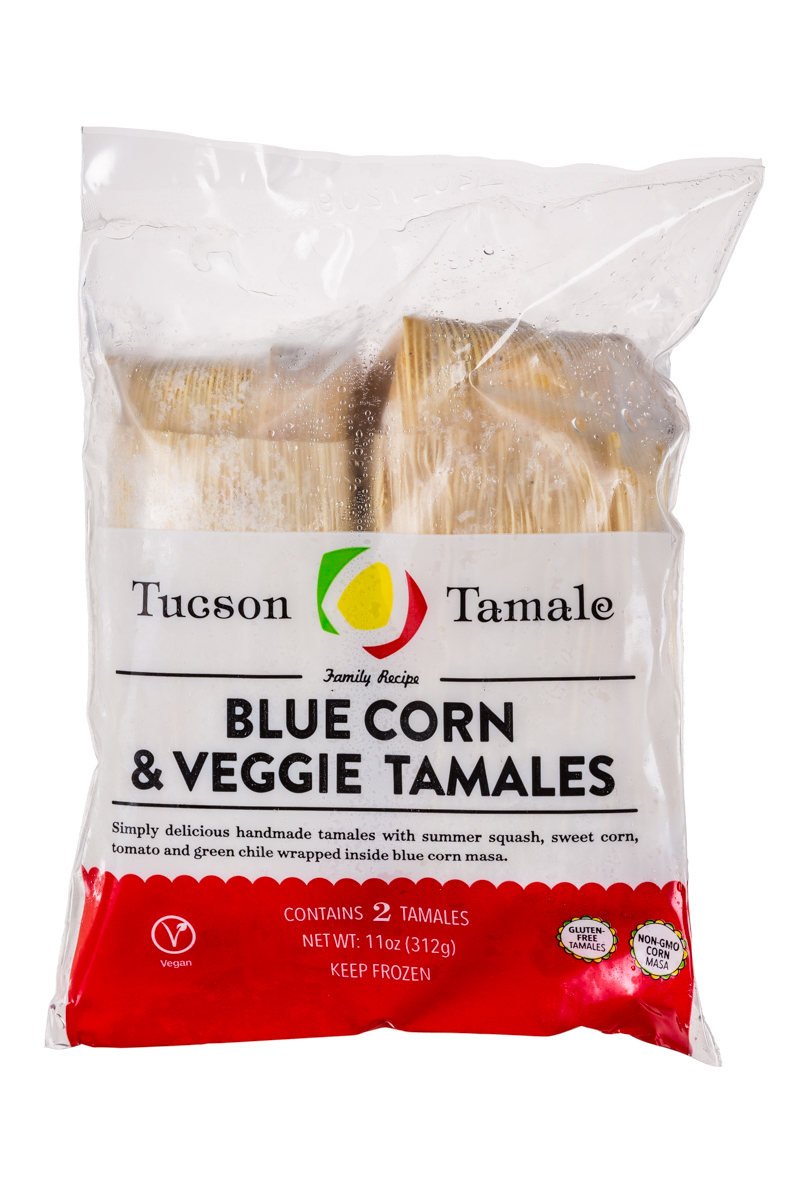 Blue Corn, Veggie & Cheese Tamales
